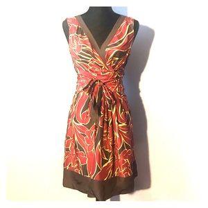 BCBGMAXAZRIA Silk Tie Dress